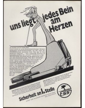 "Sample of a vintage ""ESS"" print advert (not included)"