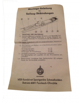 "Antique Germina  ""OBERHOF"" Ski Bindings (NEW!)"