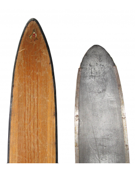 "Antique ""ATTENHOFER"" Skis (Unrestored)"