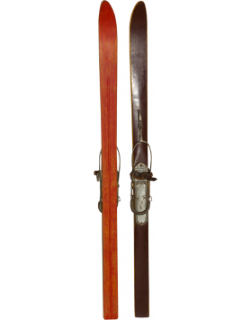 "Antique ""SWISS"" Children Skis (Unrestored)"