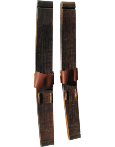"Antique ""BARREL STAVE"" Skis (Unrestored)"