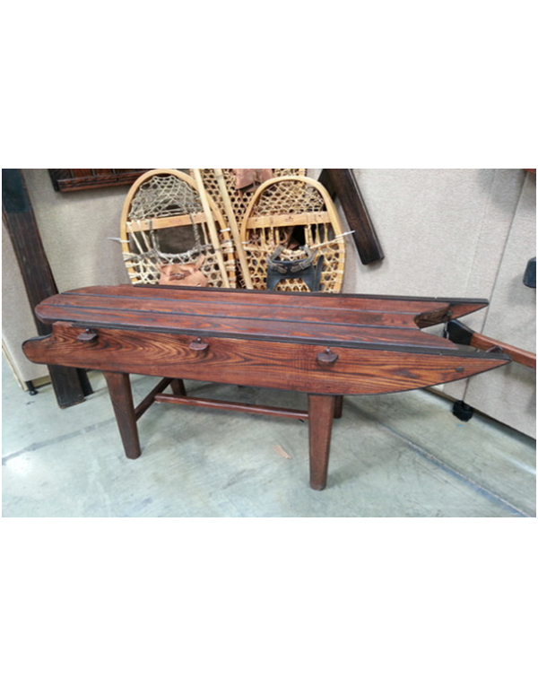Vintage Style Sled Bench
