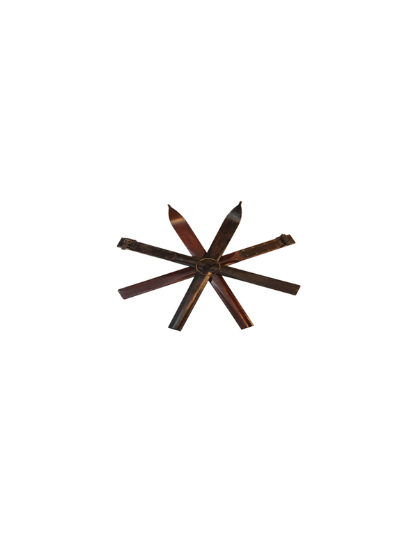 Antique Ski Snowflake