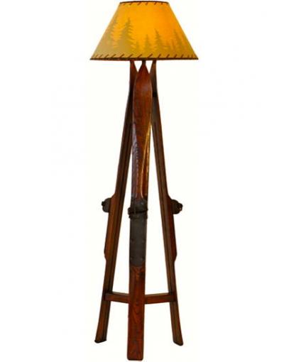 Antique Ski Floor Lamp / Lampadaire Ski / Ski Stehleuchte