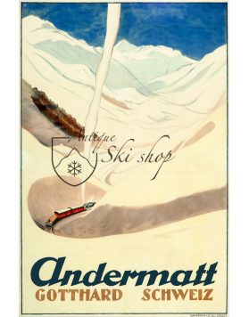 Vintage Swiss Ski Resort Poster : ANDERMATT (Nr. 2)