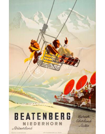 Vintage Swiss Poster : BEATENBERG