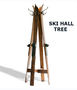 Antique wood skis