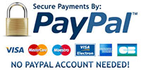 Secure Payments by PayPal - NO PayPal account needed!